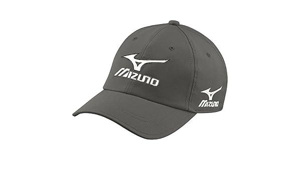 86878e2b8a99 Amazon.com : Mizuno Golf 2017 Mens Tour Cap Adjustable Performance Hat  Charcoal : Sports & Outdoors