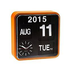 Karlsson Mini Flip Black Dial Wall Clock Orange