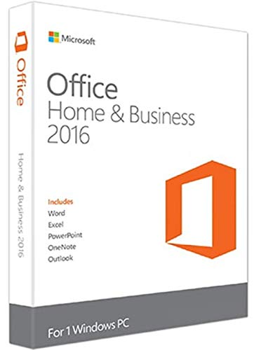 Microsoft Office Home and Business 2016 |1 User PC | Windows (Best Desktop For Home Business)