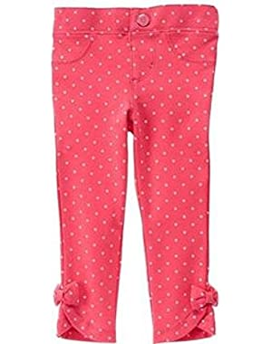 Baby Girls' Bow Polka Dot Jegging Pant, 6-12 months