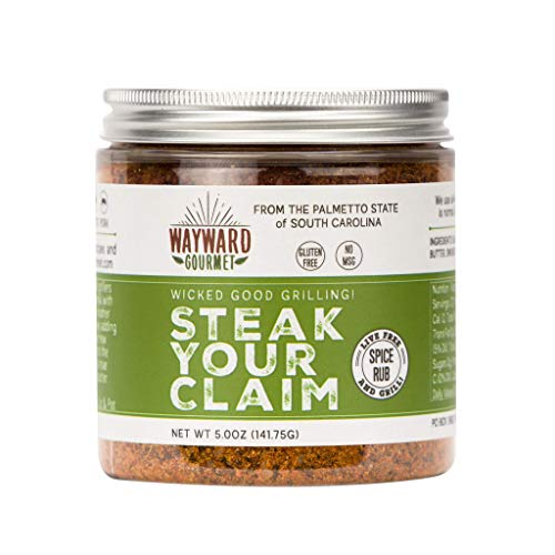 Steak Your Claim Steakhouse Restaurant Rub & Seasoning by Wayward Gourmet - The Best Hamburger Seasoning Spice Blend Mix - Great for the Grill, Jerky, Ribeye, BBQ, Chicken - It's THE Steak Rub