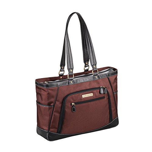 "Clark & Mayfield Sellwood Metro XL Laptop Tote 17.3"" (Bordeaux Brown) by Clark & Mayfield"
