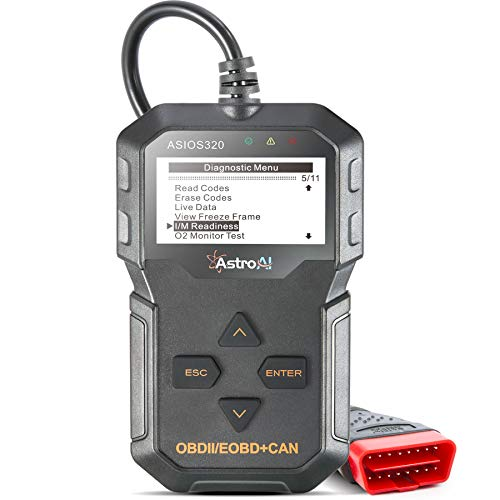 AstroAI OBD2 Scanner, OS320 OBD II Auto Check Engine Code Reader Car Diagnostic Tool Automotive Vehicle Scanner, Black