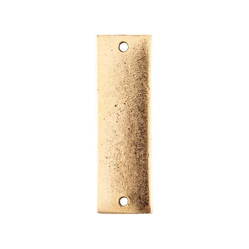 Nunn Design Antiqued Gold Plated Rectangle Flat Tag Pendant Link 9x31.5mm - Flat Link Tag Pendant