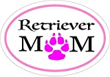 RETRIEVER Decal - Pink Oval Retriever Mom Retriever Vinyl Sticker - Retriever Bumper Sticker - Perfect Retriever Owner Gift - Made in the USA
