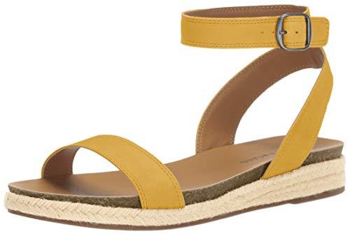 Lucky Brand Women's GARSTON Espadrille Wedge Sandal, Ochre, 7.5 M -