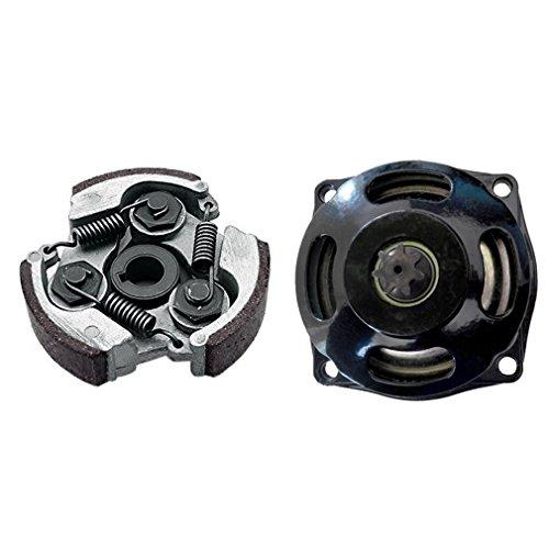 ZXTDR Gear Box Drum Clutch Pad for 47cc 49cc Mini Pocket Bike ATV Quad (Clutch Pad+Gear Box Drum) (Clutch Quad)