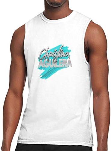 タンクトップ メンズ Christina Aguilera クリスティーナ・アギレラ 袖なしtシャツ ベスト スポーツ ジム用 インナーシャツ かっこいい