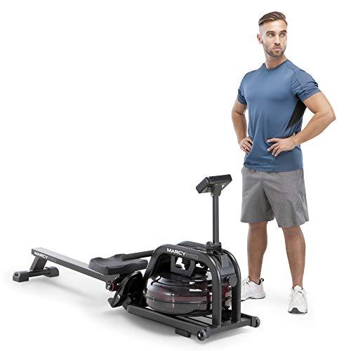 Marcy Water Rowing Machine Cardio Training Equipment, 300-lb Capacity NS-6070RW