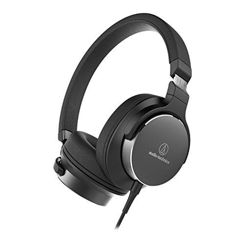Audio-Technica ATH-SR5BK Diadema Binaural Alámbrico/Inalámbrico Negro – Auriculares (Inalámbrico y alámbrico, Diadema, Binaural, Circumaural, 5-40000 Hz, Negro)