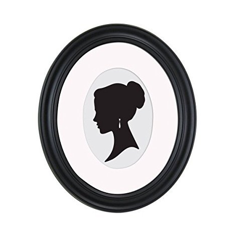 Art 8x10 Matted to 5x7 Holmgren Oval Picture Frame, Black
