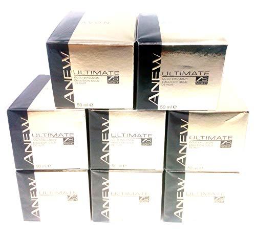 8 x AVON Anew Ultimate 7s Night Gold Emulsion 50ml - 1.7 fl.oz. SET !
