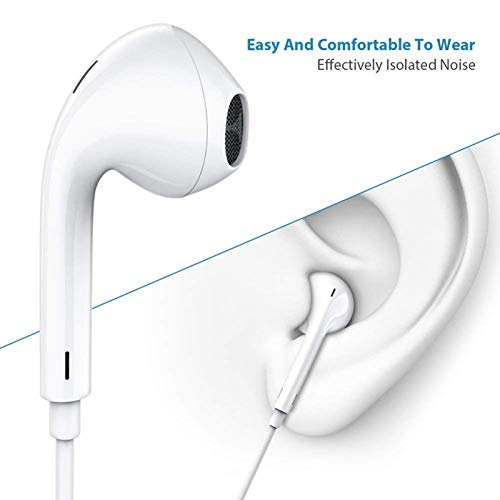 Buy white earphones with microphone