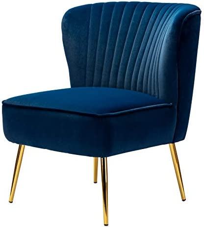 Deal of the week: Velvet Fabric Accent Chair Modern Upholstered Armless Side Chair