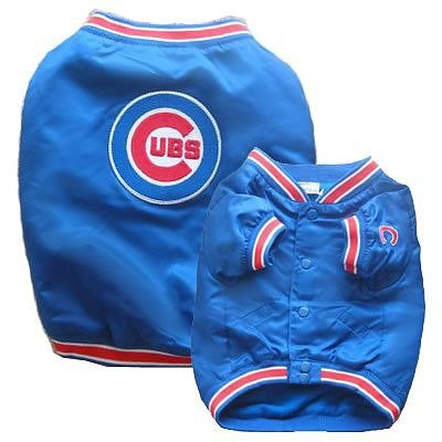 Sporty K9 Chicago Cubs Dugout Dog Jacket, Large, My Pet Supplies