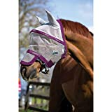 Rambo Plus Fly Mask Small Pony Silver/Purple