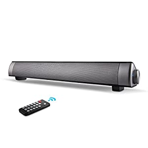Sound Bar, Soundbar Home Theater TV Speaker, Wired and Wireless Bluetooth Audio Speakers With Remote Control, TF Card- Surround Sound Bar TV/PC/Cellphone/Tablet (2018 UPGRADED)