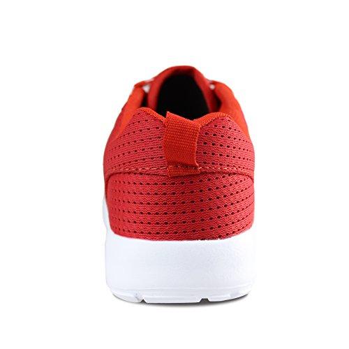 Hawkwell Calzado Deportivo Running Zapatos Ligero y Transpirables para Unisex Niños Rojo