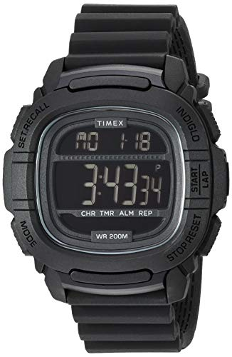 Timex Men's TW5M26100 BST.47 Black Silicone Strap ()