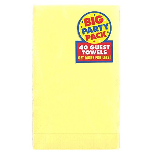 Big Party Pack Durable Guest Towels Tableware, Light Yellow, Paper , 4