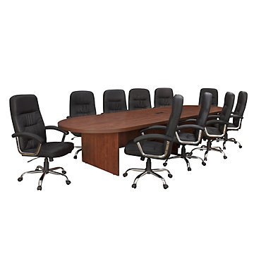 Legacy Oval 288'' Conference Table (Cherry) by OFF!