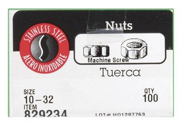 Hillman Hex Machine Screw Nut Stainless Steel Box 100