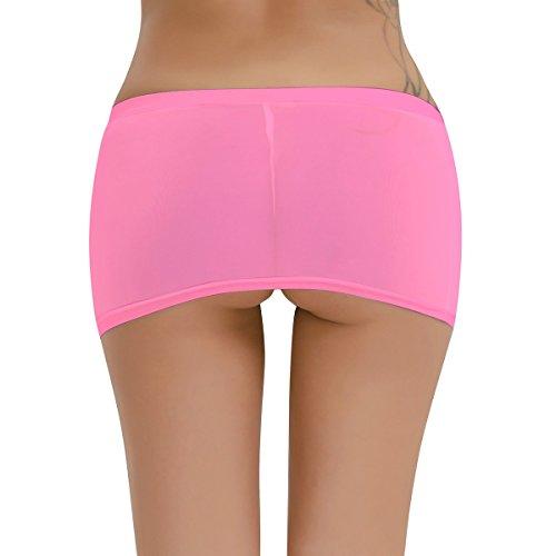Clubwear Donne Gonna Bianco Partito Tiaobug Rosa Caldo Taglia Nightwear Pura Mini Biancheria Vedere Attraverso zxzvqY6rw