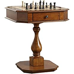 Acme Furniture Acme 82844 Bishop Game Table, Cherry, One Size
