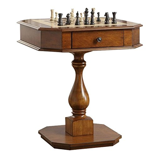 Chess Wooden Table - BOWERY HILL Game Table in Cherry