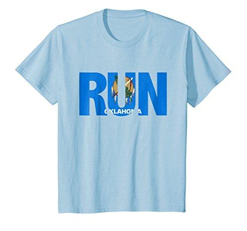 Motivation For Runners - Kids Run Oklahoma Pride Runner Motivation Graphic T-Shirt 8 Baby Blue