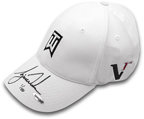 Tiger Woods Hand Signed Autographed TW White Hat Limited Edition to only 50 UDA