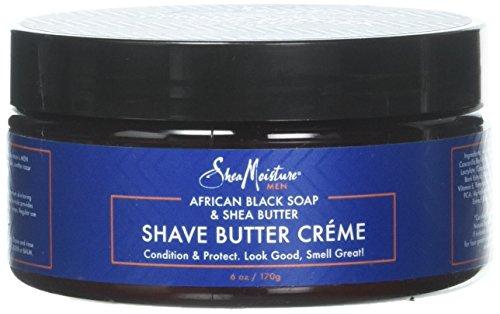 Shea Moisture African Black Soap & Butter Shave Cream for Men, 6 Ounce