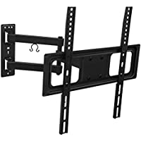 Mount-It! TV Wall Mount Bracket with Full Motion Articulating Arm 17-Inch Extension for 26 - 55 Inch LED, LCD, OLED Plasma TVs, 180 Deg Swivel 15 Deg Tilt