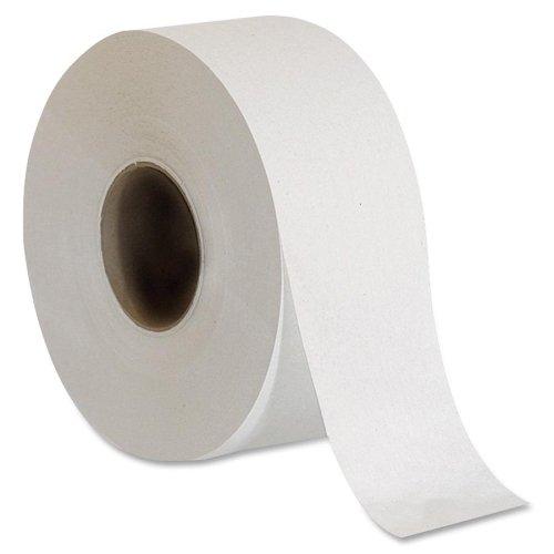 Genuine Joe GJO2506008 2-Ply Embossed Jumbo Roll Bathroom Tissue, White (Case of 8)