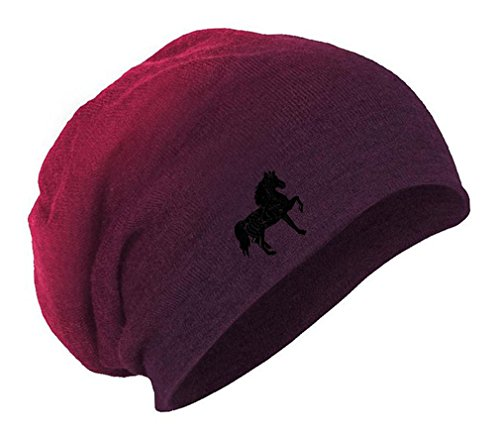 Tennessee Walking Horse Embroidery Embroidered Slouch Long Beanie Skully Hat Cap ()