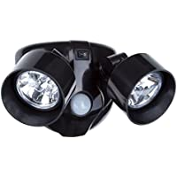 Everyday Home Dual Head Motion Activated 10 LED Security Light (Black)