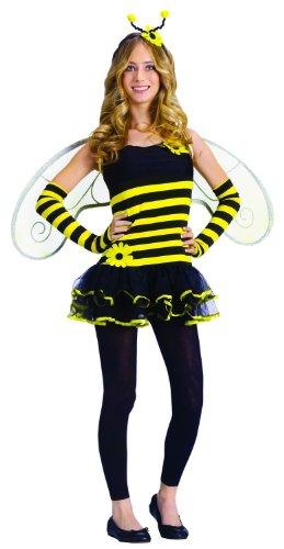 Fun World Costumes Junior's Teen Honey Bee, Yellow, Junior (Size: 7-9/Medium)