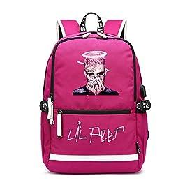 Lil Peep Mochilas Escolares Impresión Mochila Casual Mochilas para Deportes y Aire Libre Mochilas para Deportes y Aire…