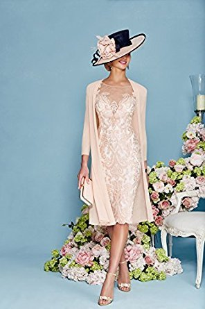 dressvip - Vestido - recto - para mujer Rosa