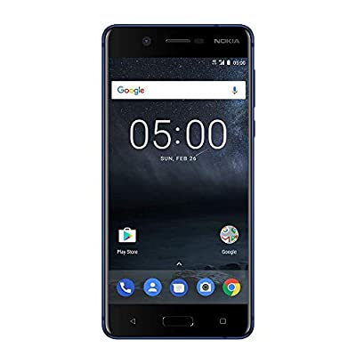 """Nokia 5 - Android 9.0 PIE - 16 GB - Single Sim Unlocked Smartphone (AT&T/T-Mobile/Metropcs/Cricket/Mint) - 5.2"""" Screen - Blue"""