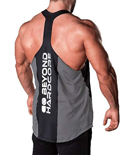 Men Gym Muscle Shirt Vest Bodybuilding Sport Fitness Y Back Stringer Tank Top