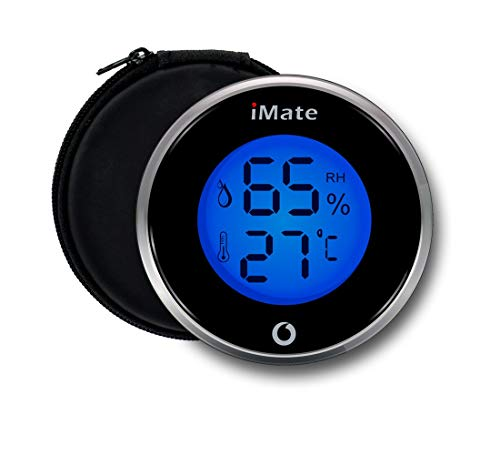 IMATE TP-06 Digital Thermometer Humidity Meter Indoor Hygrometer for Humidor (Best Digital Hygrometer For Humidor)