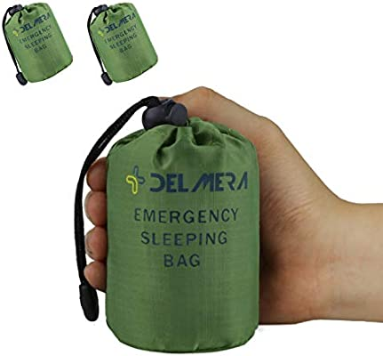 Emergency Survival Sleeping Bag Easy Heat Insulation Compact Outdoor First Aid Gear Waterproof Bivy Sack For Camping Hiking Ba Sleeping Bags