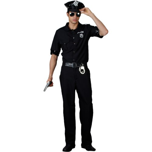 New York Policeman Adult Cop Mens Fancy Dress Costume