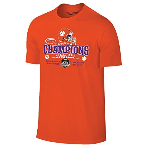 125caa84dde2 Elite Fan Shop Clemson Tigers Acc Champs Tshirt Orange 2016 - L - Orange  Multi