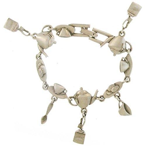 Vintage Charm Bracelet, Coffee, Tea, Signed Jj, Jonette, USA!, in (Vintage Bracelet Signed)