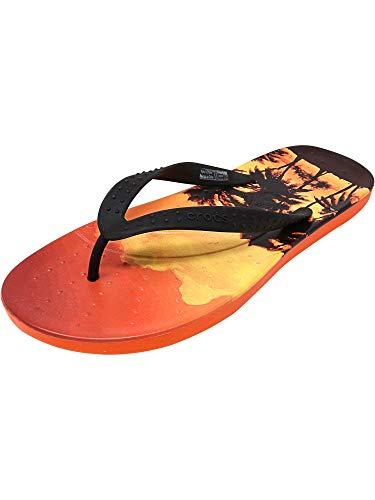 Crocs Chawaii Tropics Flip Flop, Tangerine, Men