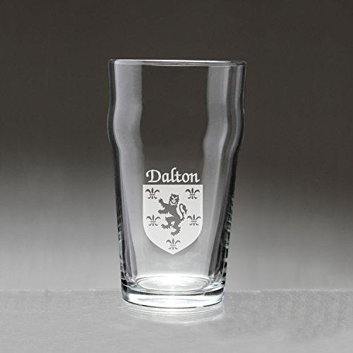 Dalton Irish Coat of Arms Pub Glasses - Set of 4 (Sand Etched)