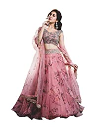 DREAM EXPORTER Pink Bollywood Designer Lehenga Choli Party wear Wedding Lengha Sari 1253