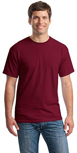 Gildan Mens Heavy Cotton 100% Cotton T-Shirt, 3XL, Cardinal